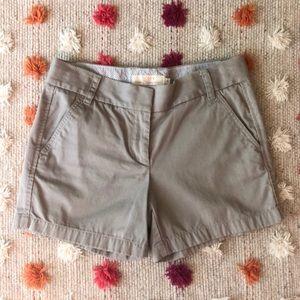 J Crew Chino Shorts (size 4)